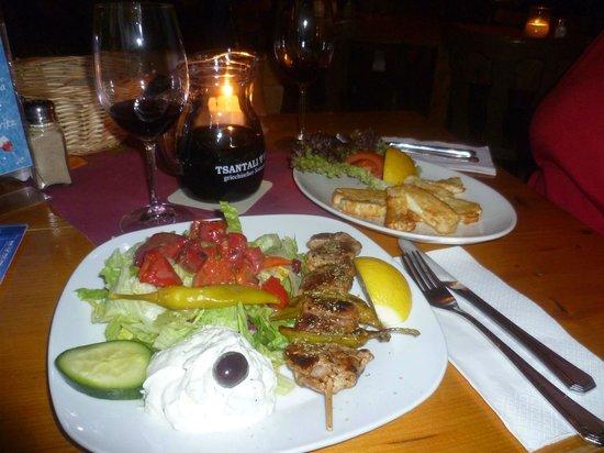 Kyprios:                                     Souflaki klein für 6,80