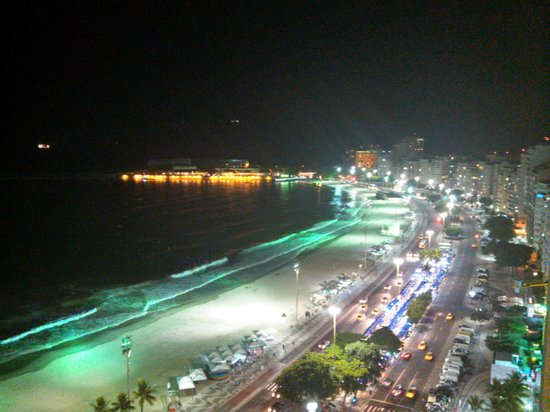 Rio Othon Palace Hotel:                   View from 18th Floor Superior Front Ocean View Room