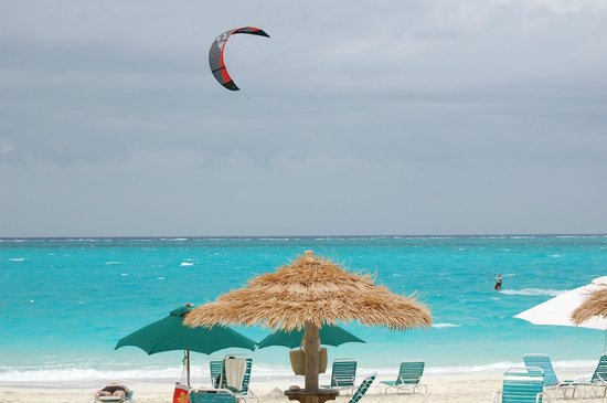 Sands at Grace Bay:                   kite boarder