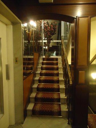 Stairs Leading Up To The Rooms Bild Von Hotel Alfa Munchen