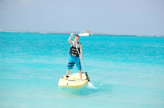 Sands at Grace Bay:                   paddleboarding