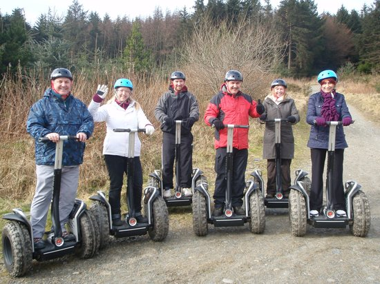Segway Isle of Man :                   The whole group