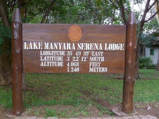Lake Manyara Serena Lodge:                   Entrance to the lodge