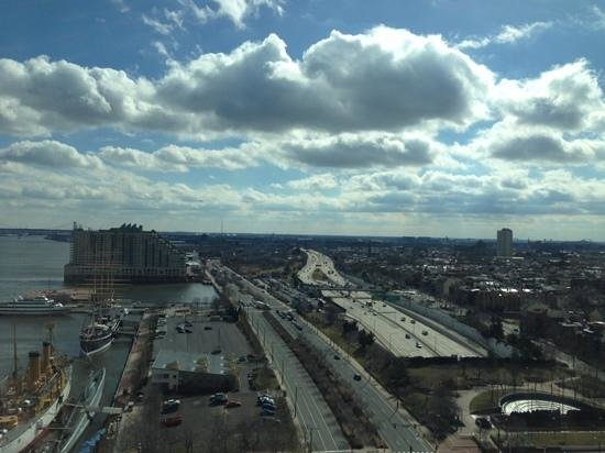 Hilton Philadelphia at Penn's Landing:                   view from 19th floor room