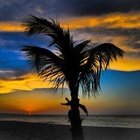Manchebo Beach Sunset