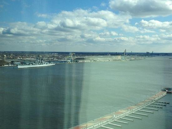Hilton Philadelphia at Penn's Landing:                   water view