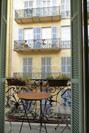 Hotel Villa La Tour:                   our petit balcon