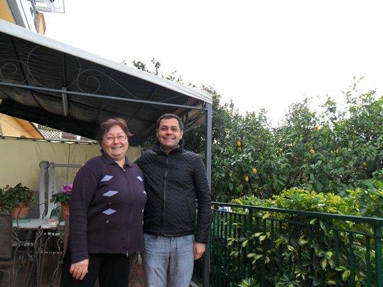 B&B Il Pino Verde:                   Enza e Arilson