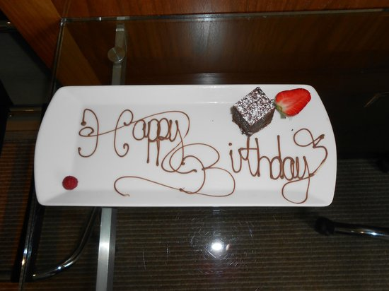 Radisson Blu Edwardian Manchester:                   Birthday brownie
