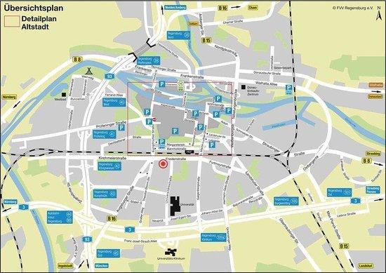 Hansa Apart-Hotel Regensburg: Map