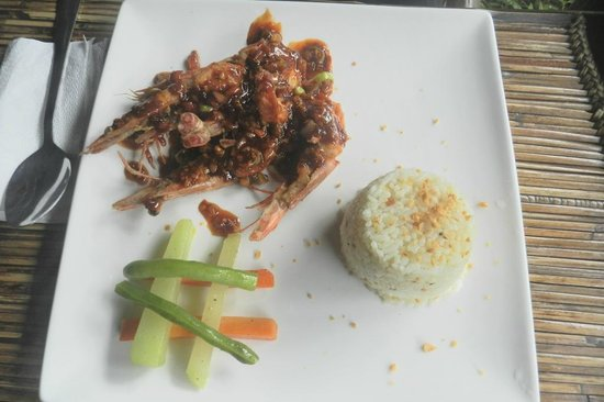 Puerto Pension: Prawns fry for inroom dining