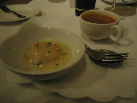 De Barge Hotel: Our amuse-bouche that was excellent