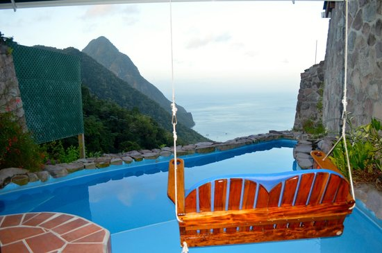 Ladera Resort:                   Our room pool and view!
