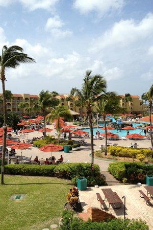 La Cabana Beach Resort & Casino:                   Pool area - view from our room