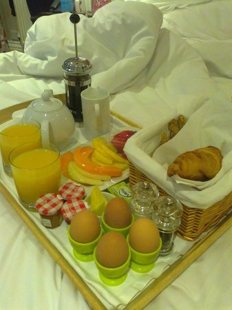 One Three Nine Bath:                   our breakfast in bed!