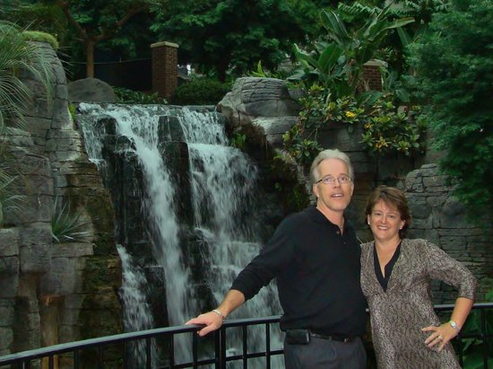 Gaylord Opryland Resort & Convention Center:                   Amy & I at the waterfall in the massive courtyard of the Gaylord Opryland in N