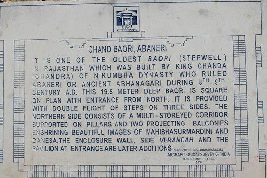 Chand Baori:                   A short description