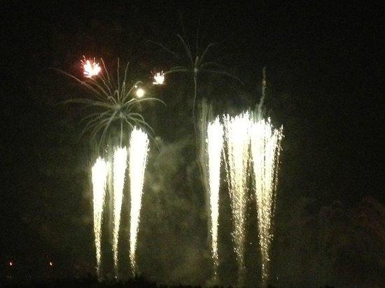 Disney's Hollywood Hotel:                   Firework view
