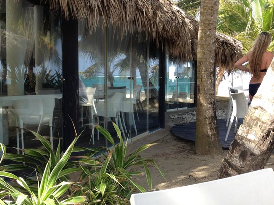 Maraja' Beach: view from outside seating