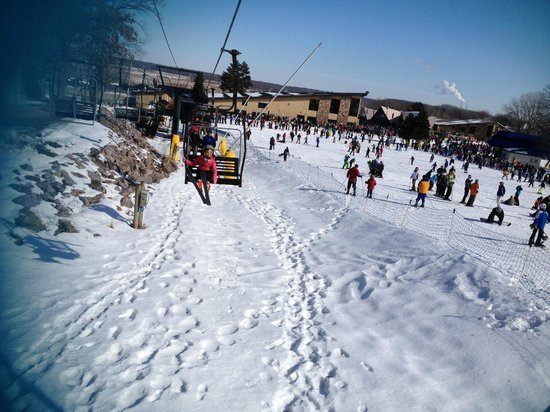 Cascade Mountain:                   ski lift to the bunny slope