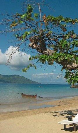 Nosy Komba Lodge:                   La plage