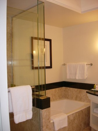 Four Seasons Hotel Miami: Bathtub and separate walk-in shower