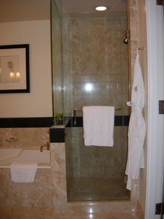 Four Seasons Hotel Miami: Walk-in shower with glass doors