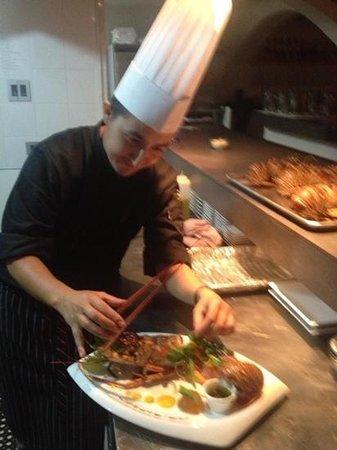Il Giardino:                                     our chef Gianluca Ferri