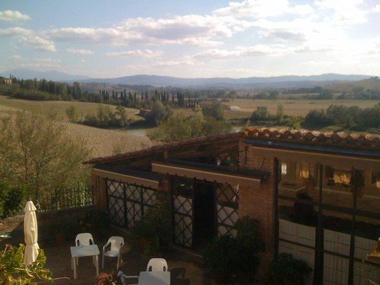 Casa Bolsinina:                   scene from balcony.