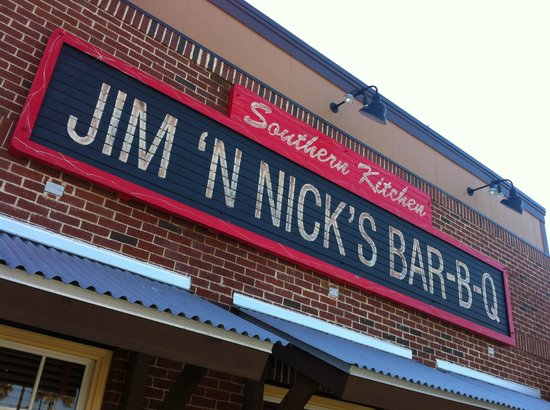 Nick's Bar-B-Q :                   The sign, so you don't drive by...
