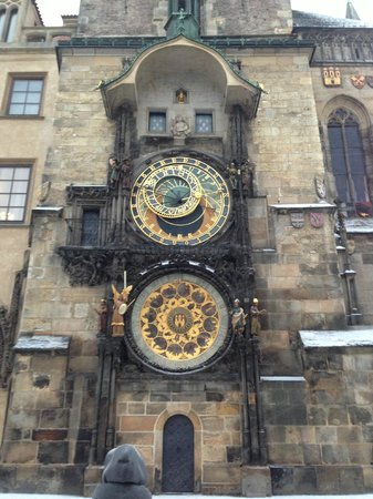 Hotel Julian:                   medieval astronomic clock in Old Town Prague