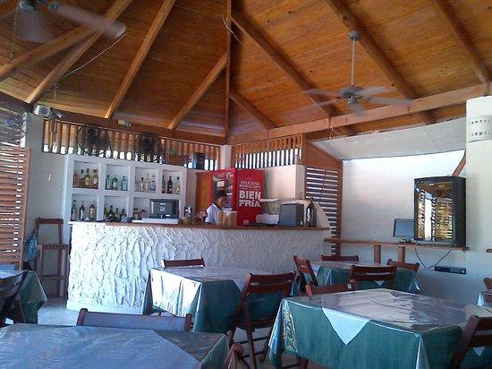 Non Solo Pizza:                   Bar del restaurante y caja