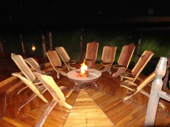 Sanctuary Baines' Camp:                   Quiet night around the fire pit