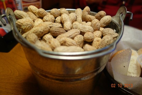 Texas Roadhouse:                   Peanuts on our Table