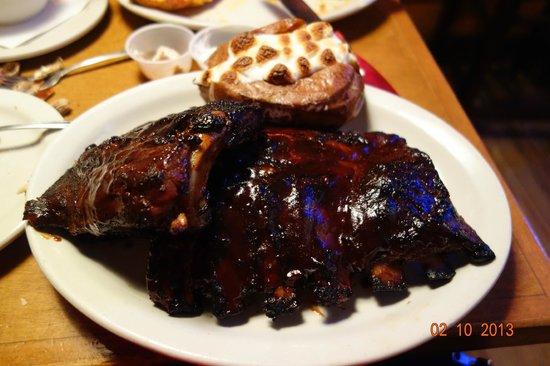 Texas Roadhouse:                   Whole Slab Fall Of The Bone BBQ Ribs