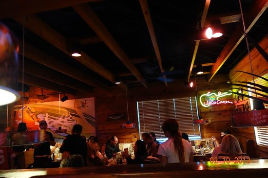 Texas Roadhouse:                   Wooden Ceiling in the restaurant