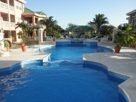 Grand Colony Island Villas:                   Looking south over pool area