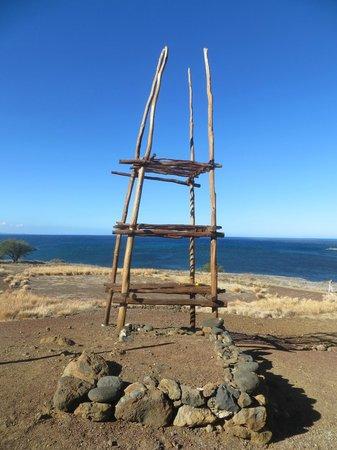 Pu'ukohola Heiau:                   An altar near the Heiau