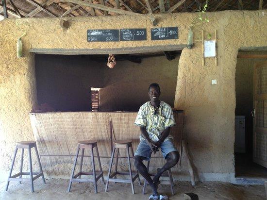 Casamance, Senegal:                   Jean at the bar