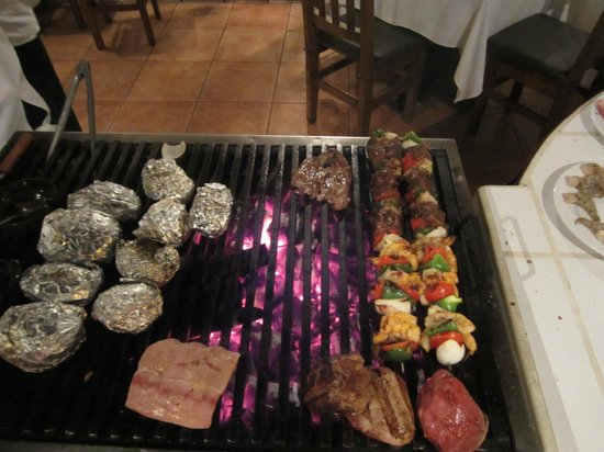 Kristal Rose:                   food on the outdoor grill