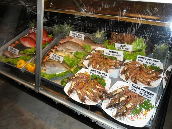 Amal Villa Apartments & Rooms:                   Fisch & Seefood - immer frisch.