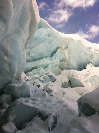 Morteratsch Glacier:                   Gletscherzunge