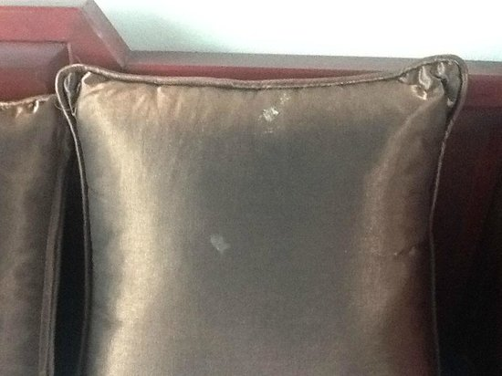Red Ginger Chic Resort:                                     Food smeared cushion- a little 4 star extra?