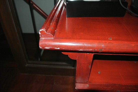 Red Ginger Chic Resort:                                     Grubby chipped furniture in our room- a 4 star bonus?