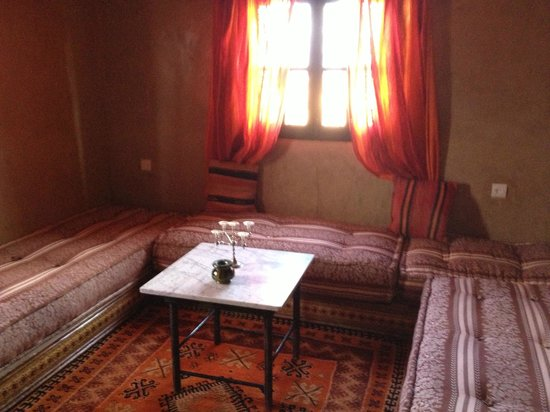 Ait Ben Hada :                                     Seating area in the suite room