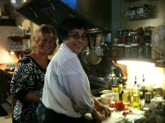 Cow Bay Cafe: Owner & Chef Adrienne Johnston in the kitchen