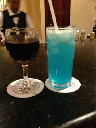 Grand Palladium Palace Resort Spa & Casino:                   Wine and a Blue lagoon