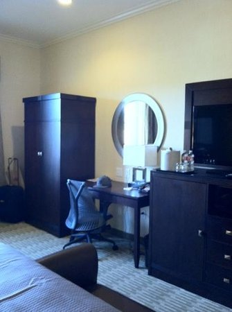 The Oaks Hotel:                                     nice room! with flat screen, mini fridge and wardrobe