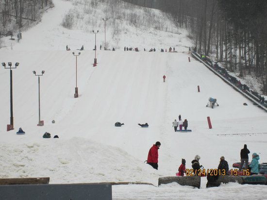 Hidden Valley Resort:                   The ramp for snow tubing
