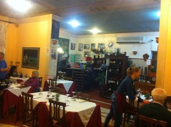 Trattoria Il Nibbio:                   l'interno del ristorante